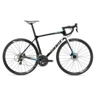 Bicicleta Giant TCR Advanced 2 Disc - Black/Pearl White/Blue 2018