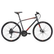Bicicleta Giant Escape 1 Disc - Matt/Charcoal/Neon Red 2018