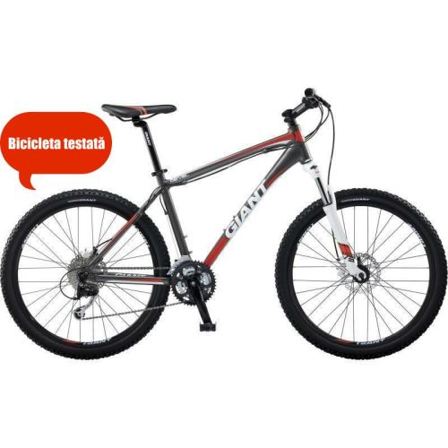 Bicicleta Mountain Bike Hardtail, GIANT REVEL 0 DISC, marime L, Gri, Barbati